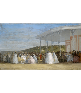 Boudin Eugène - Concert at the Deauville Casino. Printing on canvas