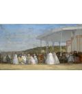 Boudin Eugène - Concerto al casino di Deauville. Stampa su tela