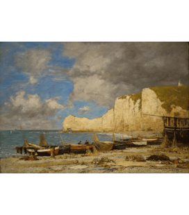 Boudin Eugène - Étretat. Printing on canvas