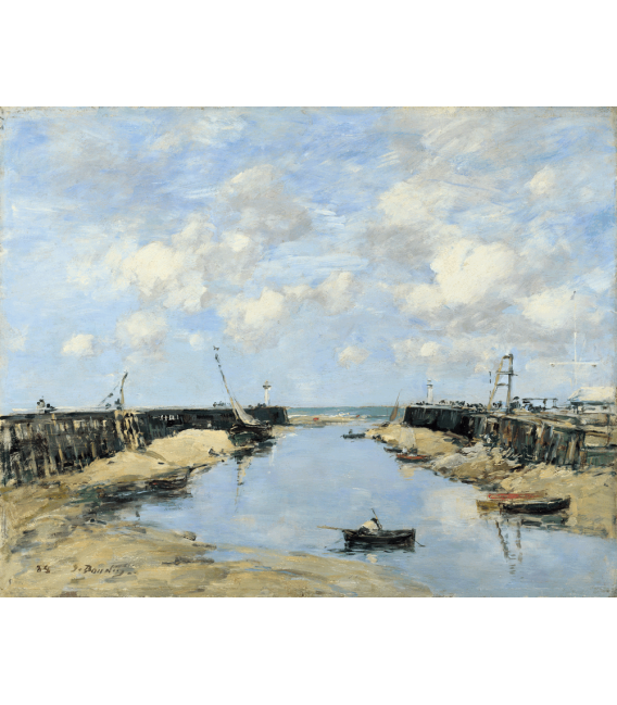 Boudin Eugène - Entrance to the port of Trouville. Printing on canvas