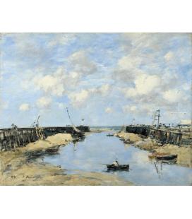 Boudin Eugène - Ingresso del porto di Trouville. Stampa su tela