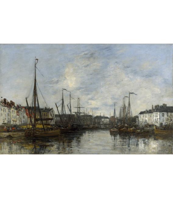 Boudin Eugène - Porto di Bruxelles. Stampa su tela