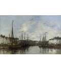 Boudin Eugène - Port of Brussels. Printing on canvas