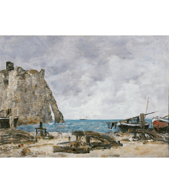 Boudin Eugène - Étretat Beach. Printing on canvas