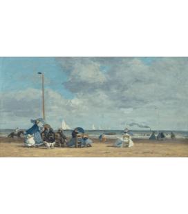 Boudin Eugène - Spiaggia di Trouville II. Stampa su tela