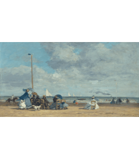 Boudin Eugène - Trouville Beach II. Printing on canvas