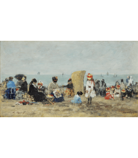 Boudin Eugène - Trouville Beach. Printing on canvas