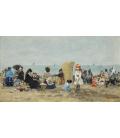 Boudin Eugène - Trouville Beach. Printing on canvas