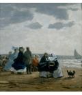 Boudin Eugène - On the beach. Printing on canvas