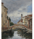 Boudin Eugène - Venezia, piccolo canale. Stampa su tela