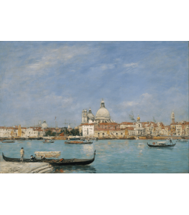 Boudin Eugène - Church of San Giorgio Maggiore and the Santa Maria della Salute. Printing on canvas