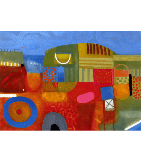 David Briggs - Summer Strawberry Field. Printing on canvas