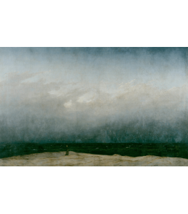 Caspar David Friedrich - The Monk by the Sea. Printing on canvas
