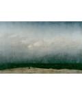 Caspar David Friedrich - Il monaco vicino al mare. Stampa su tela