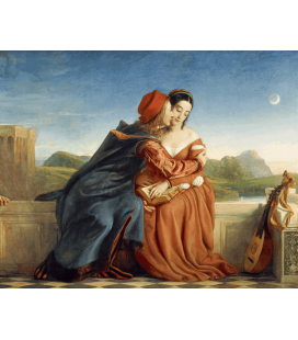 William Dyce - Francesca da Rimini. Stampa su tela