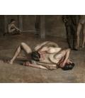 Thomas Eakins - Lottatori. Stampa su tela