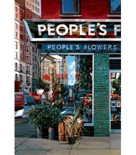 Richard Estes - I fiori della gente. Stampa su tela
