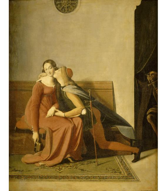 Jean Auguste Dominique Ingres - Francesca da Rimini. Stampa su tela