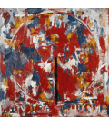 Jasper Johns - Device Circle. Printing on canvas