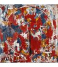 Jasper Johns - Dispositivo circolare. Stampa su tela