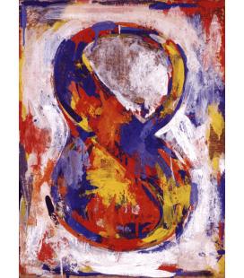 Jasper Johns - Figura 8. Stampa su tela
