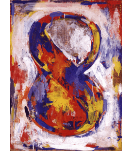 Jasper Johns - Figure 8. Printing on canvas