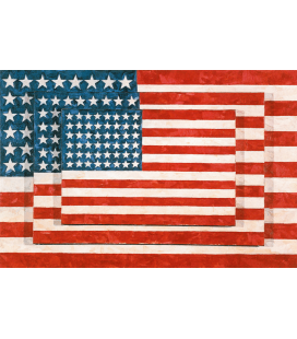 Jasper Johns - Tre bandiere. Stampa su tela