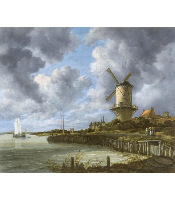Jacob van Ruisdael - Mulino a vento a Wijk bij Duurstede. Stampa su tela