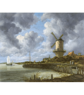 Jacob van Ruisdael - Windmill at Wijk bij Duurstede. Printing on canvas