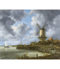 Jacob van Ruisdael - Windmill at Wijk bij Duurstede. Printing on canvas