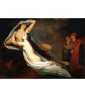 Ary Scheffer - I fantasmi di Paolo e Francesca. Stampa su tela
