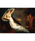 Ary Scheffer - The Ghosts of Paolo and Francesca. Printing on canvas