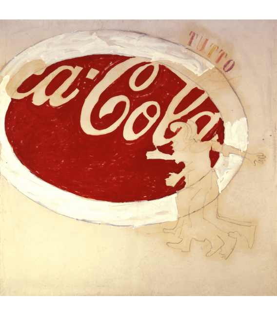 Mario Schifano - Coca cola. Printing on canvas