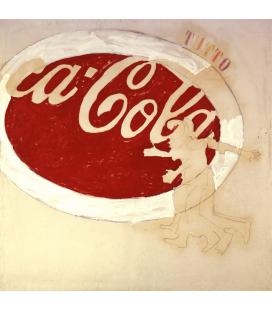 Mario Schifano - Coca cola. Stampa su tela