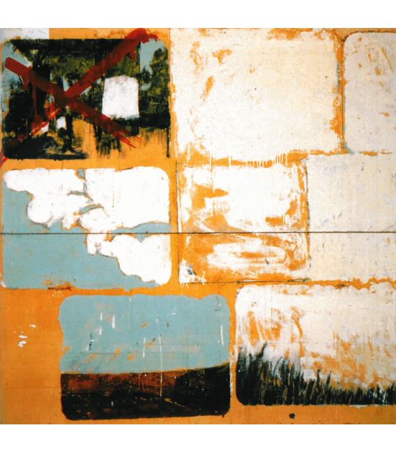 Mario Schifano - Enamel on paper. Printing on canvas