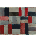 Sean Scully - Small gray wall. Printing on canvas