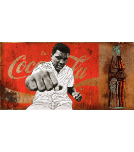Pakpoom Silaphan - Alì punches on Coke. Printing on canvas