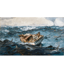 Winslow Homer. Nocchiero sulla nave in tempesta. Stampa su tela
