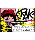 Roy Fox Lichtenstein - Crack . Printing on canvas