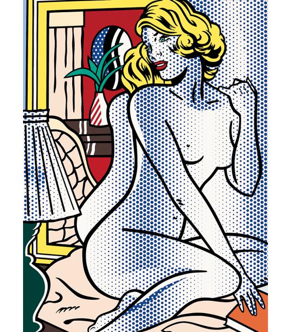 Roy Fox Lichtenstein - Blue Nude. Printing on canvas