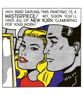 Roy Fox Lichtenstein - Brad, tesoro. Stampa su tela