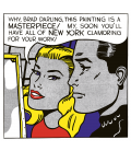 Roy Fox Lichtenstein - Brad, darling. Printing on canvas