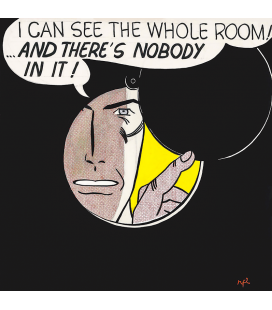 Roy Fox Lichtenstein - I can see the whole room. Printing on canvas