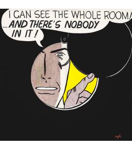 Roy Fox Lichtenstein - Posso vedere l'intera stanza. Stampa su tela
