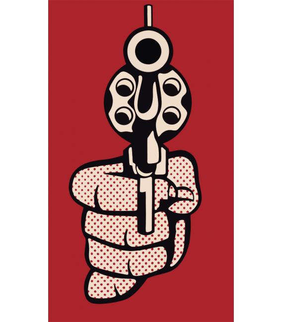 Roy Fox Lichtenstein - Pistol. Printing on canvas