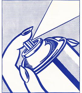 Roy Fox Lichtenstein - Bombola spray. Stampa su tela