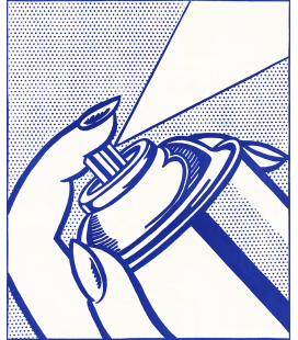 Roy Fox Lichtenstein - Spray Can. Printing on canvas