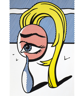 Roy Fox Lichtenstein - Girl With Tear. Printing on canvas