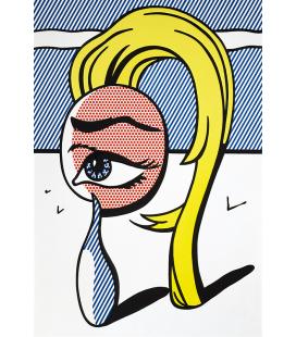 Roy Fox Lichtenstein - Girl With Tear. Printing on canvas