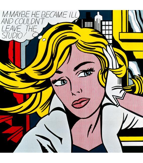 Roy Fox Lichtenstein - M-Maybe - Immagine di una ragazza. Stampa su tela